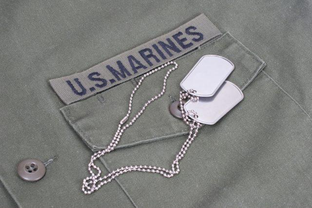 軍服の胸ポケット