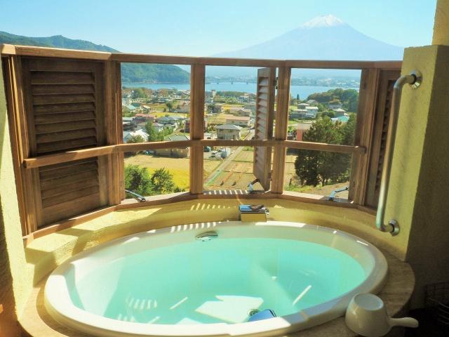 ラヴィスタ富士河口湖 富士山の見える露天風呂